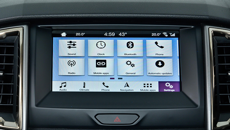 Ford Ranger Touchscreen